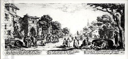 Death by the Roadside, plate 16 from 'The Miseries and Misfortunes of War', 1633 by Jacques Callot - Reproduction Oil Painting