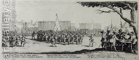 The Raising of an Army, plate 2 from 'The Miseries and Misfortunes of War' 1633 by Jacques Callot - Reproduction Oil Painting