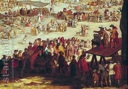 The Fair at Impruneta, detail of the right hand side, 1638 by Jacques Callot - Reproduction Oil Painting