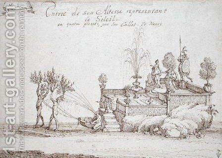 The Duke of Lorraine Representing the Sun by Jacques Callot - Reproduction Oil Painting
