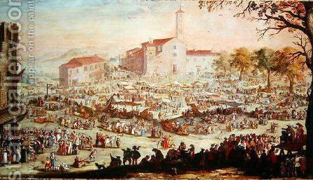 The Fair at Impruneta, 1638 by Jacques Callot - Reproduction Oil Painting
