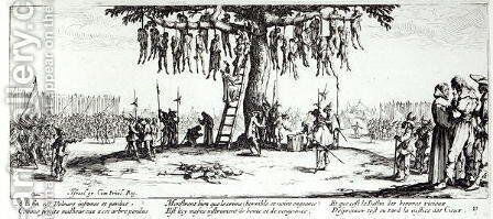 The Hanging, plate 11 from 'The Miseries and Misfortunes of War' by Jacques Callot - Reproduction Oil Painting
