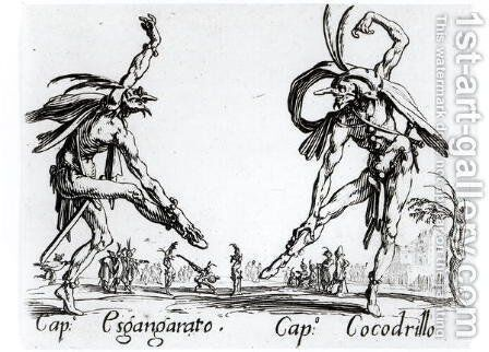 I Balli de Spessanei, or Le Grande Chasse 2 by Jacques Callot - Reproduction Oil Painting