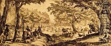 The Great Hunt by Jacques Callot - Reproduction Oil Painting