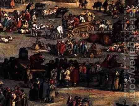 Detail of The Fair at Impruneta, Florence, 1638 by Jacques Callot - Reproduction Oil Painting