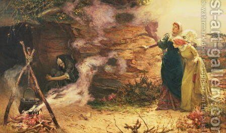 A Visit to the Witch, 1882 by Edward Frederick Brewtnall - Reproduction Oil Painting