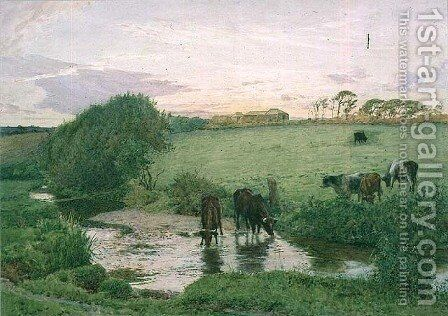 Near St. Mawgan, Cornwall by Edward Frederick Brewtnall - Reproduction Oil Painting