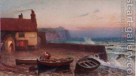Sandsend, Whitby by Edward Frederick Brewtnall - Reproduction Oil Painting