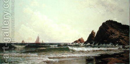 Cliffs at Cape Elizabeth, Portland Harbour, Maine, 1882 by Alfred Thompson Bricher - Reproduction Oil Painting