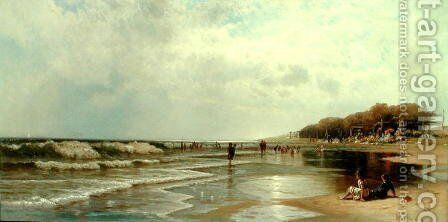 Long Branch, New Jersey 1880 by Alfred Thompson Bricher - Reproduction Oil Painting