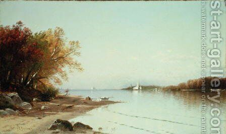 Narragansett Bay, Autumn, Rhode Island by Alfred Thompson Bricher - Reproduction Oil Painting
