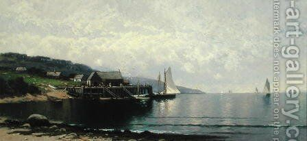 The Landing, Bailey Island, Maine, c.1907 by Alfred Thompson Bricher - Reproduction Oil Painting