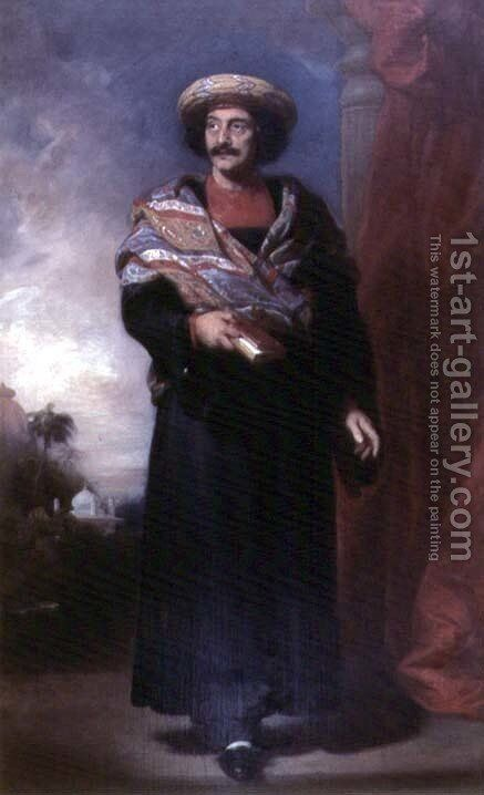 Portrait of Rammohun Roy (1774-1833) 1832 by Henry Perronet Briggs - Reproduction Oil Painting