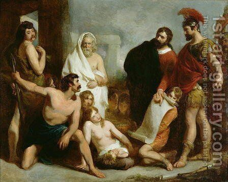 The Romans Teaching the Mechanical Arts to the Ancient Britons, 1831 by Henry Perronet Briggs - Reproduction Oil Painting
