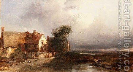 Effect after Rain by Henry Bright - Reproduction Oil Painting