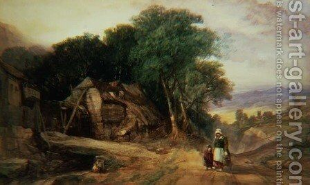 On the Borders of Dartmoor, c.1840 by Henry Bright - Reproduction Oil Painting