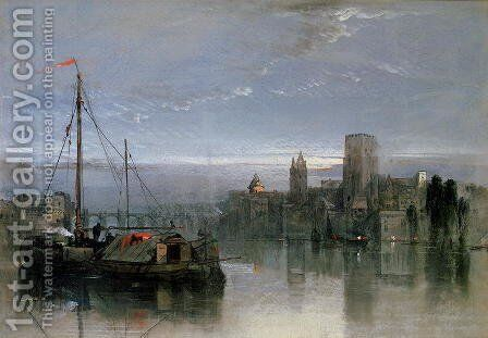 View of Cologne by Henry Bright - Reproduction Oil Painting