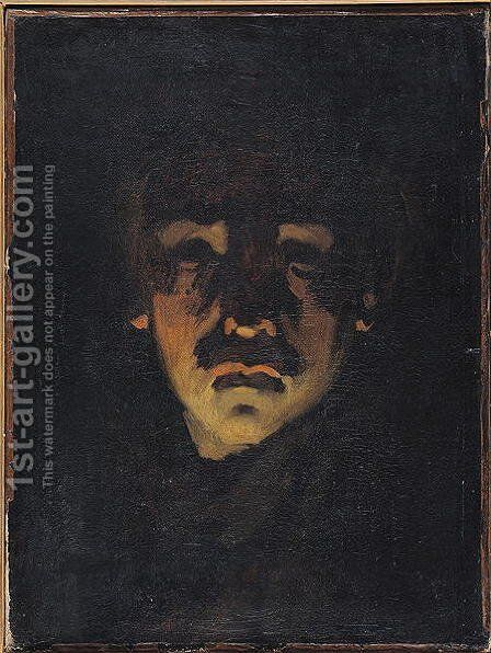 Self Portrait by Adolphe-Felix Cals - Reproduction Oil Painting