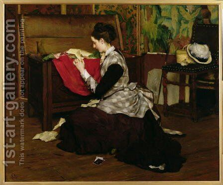 Old Letters and Dead Leaves by Claude Andrew Calthrop - Reproduction Oil Painting