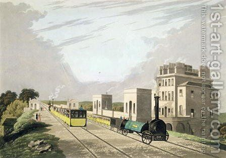 View of the Manchester and Liverpool Railway, taken at Newton, 1825 by Charles Calvert - Reproduction Oil Painting