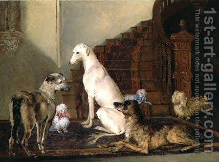 Waiting at the Foot of the Stairs, 1856 by Henry Calvert - Reproduction Oil Painting