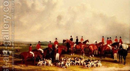 The Meet of the Buck Hounds, c.1845 by Henry Calvert - Reproduction Oil Painting