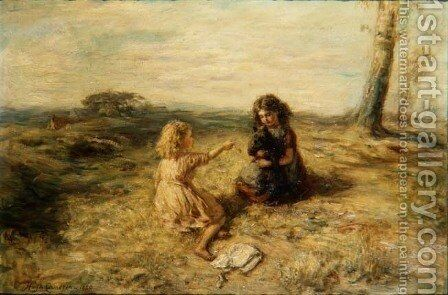 New Tricks, 1880 by Hugh Cameron - Reproduction Oil Painting