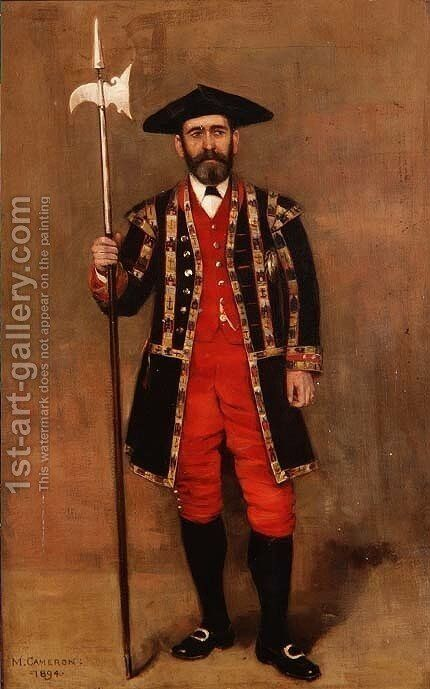 An Edinburgh Halberdier, 1894 by Mary Cameron - Reproduction Oil Painting