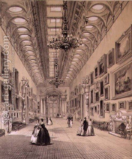 The Picture Gallery at Buckingham Palace, c.1880 by Charlotte Campbell - Reproduction Oil Painting