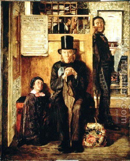 Waiting for Legal Advice, 1857 by James Campbell - Reproduction Oil Painting