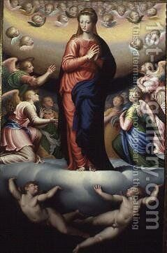 Madonna in Glory by Bernardino Campi - Reproduction Oil Painting
