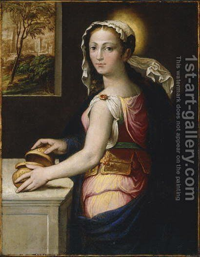 Mary Magdalene by Bernardino Campi - Reproduction Oil Painting