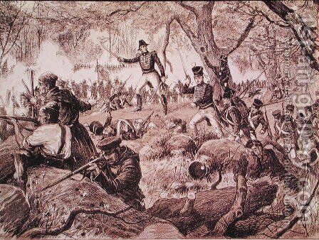 The Battle of Chateauguay, 26th October 1813, 1880 by Anonymous Artist - Reproduction Oil Painting