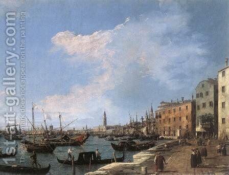 The Riva Degli Schiavoni, 1724-30 by (Giovanni Antonio Canal) Canaletto - Reproduction Oil Painting