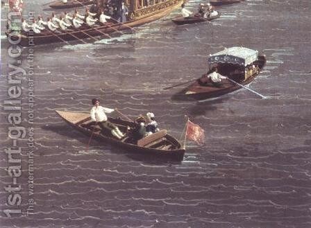 The Thames on Lord Mayor's Day, c.1747 (detail) by (Giovanni Antonio Canal) Canaletto - Reproduction Oil Painting