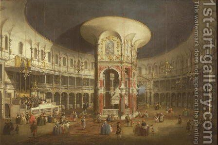 Ranelagh Gardens, the Interior of the Rotunda, c.1751 by (Giovanni Antonio Canal) Canaletto - Reproduction Oil Painting