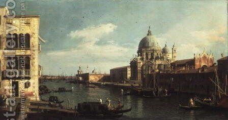 View of the Grand Canal- Santa Maria della Salute and the Dogana from Campo Santa Maria Zobenigo, early 1730s by (Giovanni Antonio Canal) Canaletto - Reproduction Oil Painting