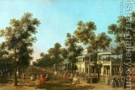 Vauxhall Gardens- the Grand Walk, c.1751 by (Giovanni Antonio Canal) Canaletto - Reproduction Oil Painting