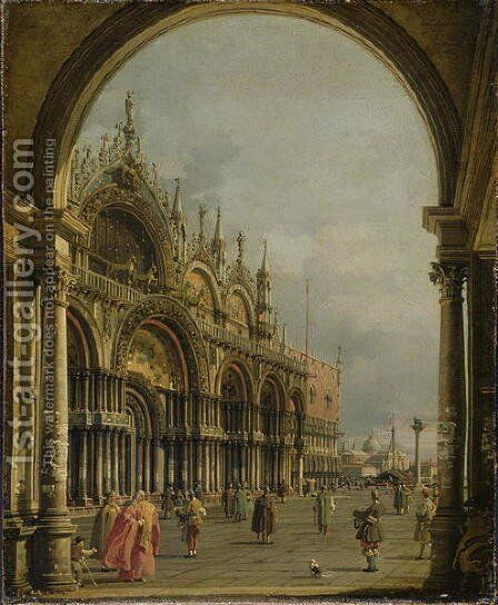St. Mark's, Venice, c.1756 by (Giovanni Antonio Canal) Canaletto - Reproduction Oil Painting