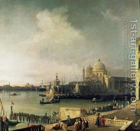 View of Venice by (Giovanni Antonio Canal) Canaletto - Reproduction Oil Painting