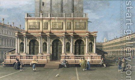 The Loggetta, Venice by (Giovanni Antonio Canal) Canaletto - Reproduction Oil Painting