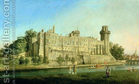 Warwick Castle by (Giovanni Antonio Canal) Canaletto - Reproduction Oil Painting