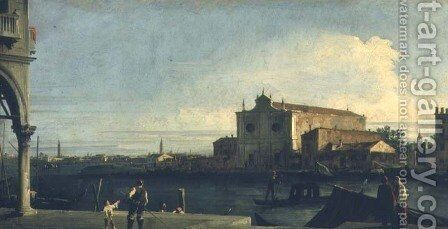 The Church of S. Giovanni dei Battuti, Murano by (Giovanni Antonio Canal) Canaletto - Reproduction Oil Painting