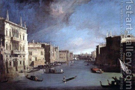 View on the Grand Canal, 1729 by (Giovanni Antonio Canal) Canaletto - Reproduction Oil Painting