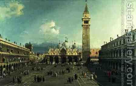 Piazza San Marco, Venice, c.1730-35 by (Giovanni Antonio Canal) Canaletto - Reproduction Oil Painting