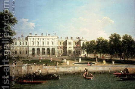 Old Somerset House from the River Thames, c.1746-50 by (Giovanni Antonio Canal) Canaletto - Reproduction Oil Painting