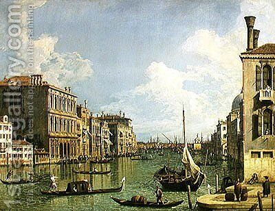 View of the Grand Canal 2 by (Giovanni Antonio Canal) Canaletto - Reproduction Oil Painting