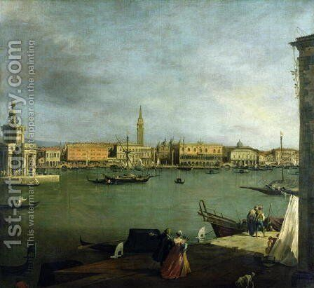 The Bacino di San Marco Looking North by (Giovanni Antonio Canal) Canaletto - Reproduction Oil Painting