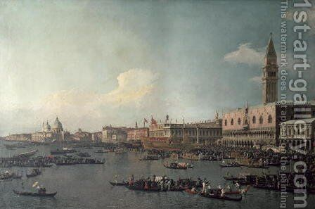 The Basin of San Marco on Ascension Day, c.1740 by (Giovanni Antonio Canal) Canaletto - Reproduction Oil Painting