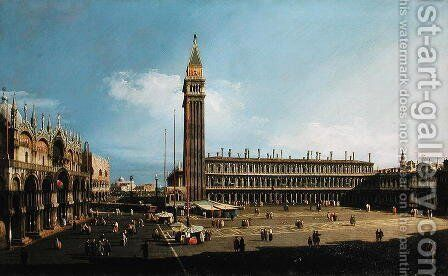 Piazza San Marco, Venice, c.1732 by (Giovanni Antonio Canal) Canaletto - Reproduction Oil Painting